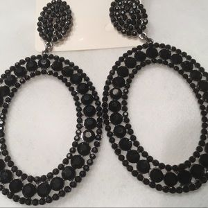 Jewelry - Pave Glass Stone Earrings